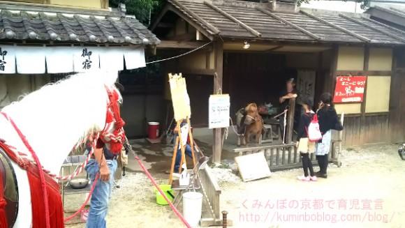 映画村江戸の町ポニー乗馬体験