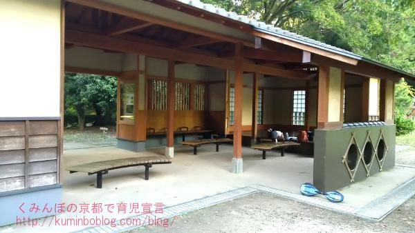 京都御苑児童公園お砂場屋根つき休憩所