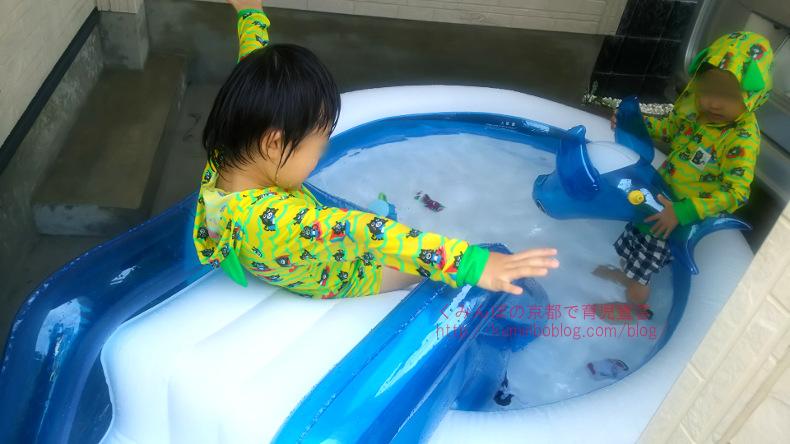 【レビュー】子供用 滑り台・シャワーつき家庭用ビニールプールが、なかなかよかったのでおすすめ