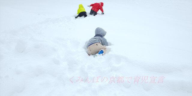 広河原スキー場 積雪状況 子供埋もれてる